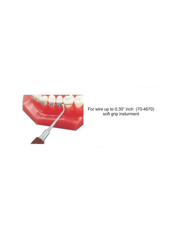"""Stainless Steel Dental Ortho Instruments Soft Grip Instrument for Wire up to 0.30"""" inch"""