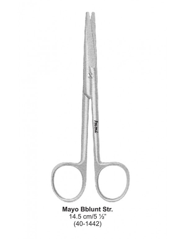 Stainless Steel Dental Scissor Mayo Bblunt Str14.5...