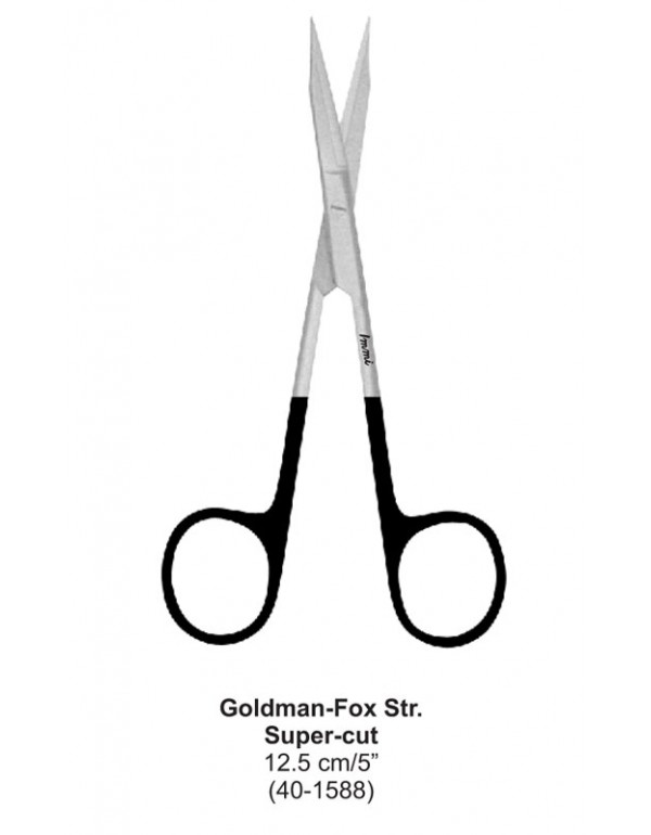 Stainless Steel Dental Super-cut Scissors Goldman-...
